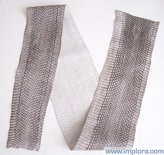 Implora Natural Cobra Snake Skin Hide