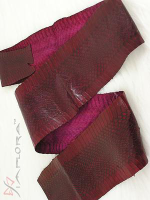 Leather Implora Burgundy Wine Cobra Snakeskin