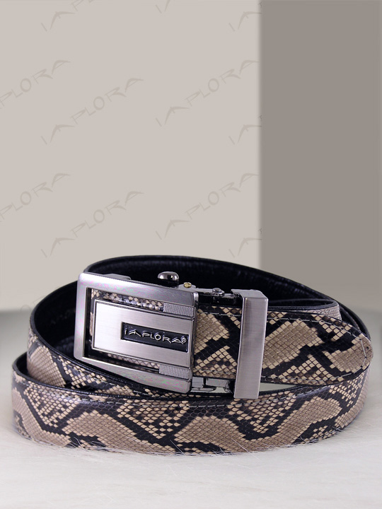 Implora Natural Python Snake Skin Belt