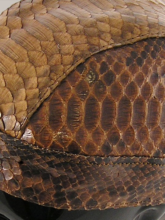 Brown Big Python Snakeskin Doorag Head Wrap