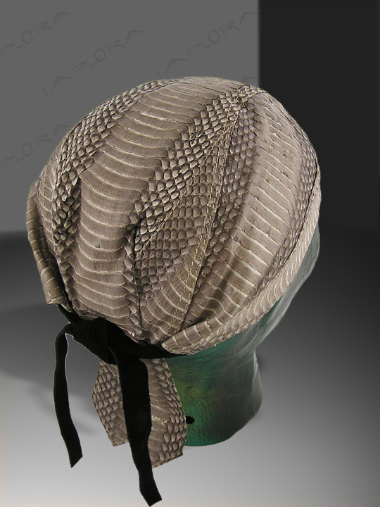 Natural Cobra Snakeskin Doorag Head Wrap
