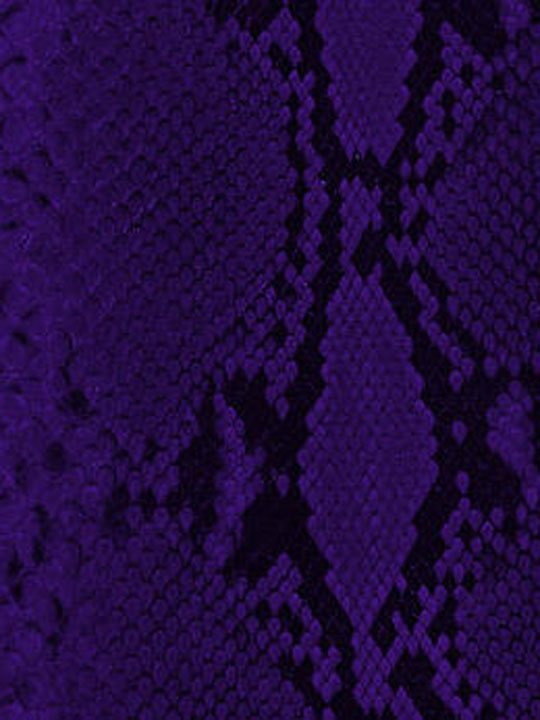 Leather Implora Purple Python Snakeskin