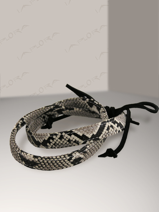 Leather Implora Natural Python Skin Hatband 0.5W