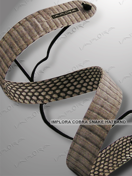 Implora Natural Cobra Skin Hatband 1W Deluxe