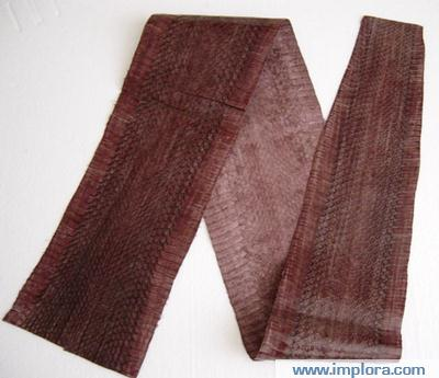 Implora Brown Cobra Snakeskin Garment Quality