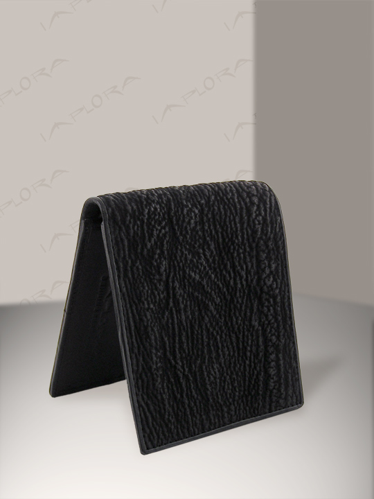 Implora Black Shark Skin Bifold Wallet