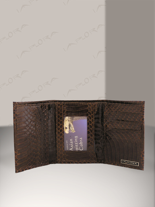 Implora Brown Cobra Trifold Wallet