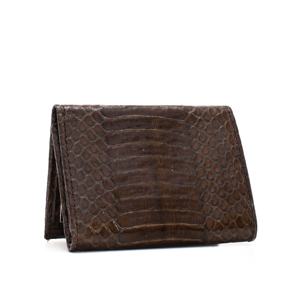 Implora Brown Cobra Trifold Wallet, Belly