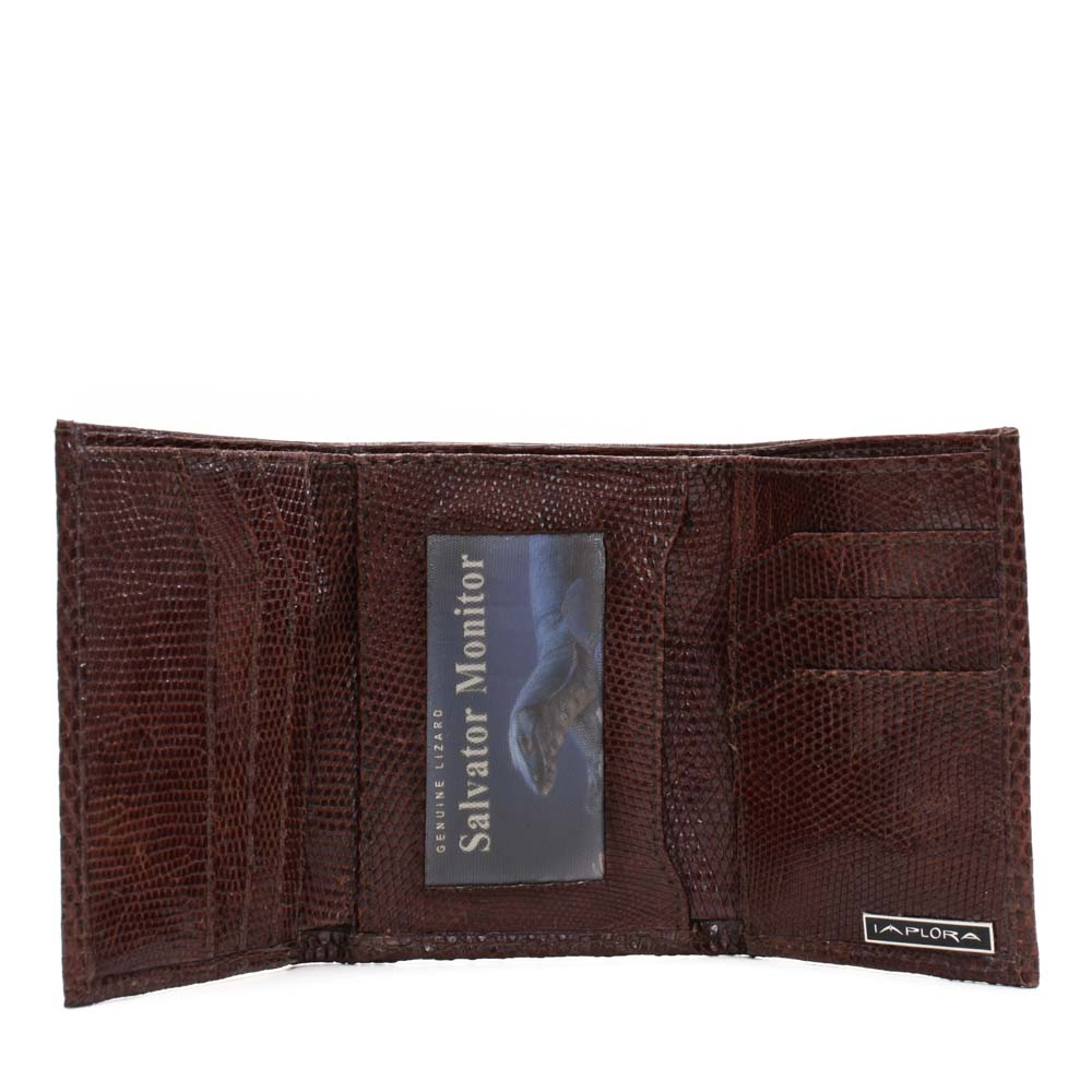 Implora Brown Monitor LizardTrifold Wallet