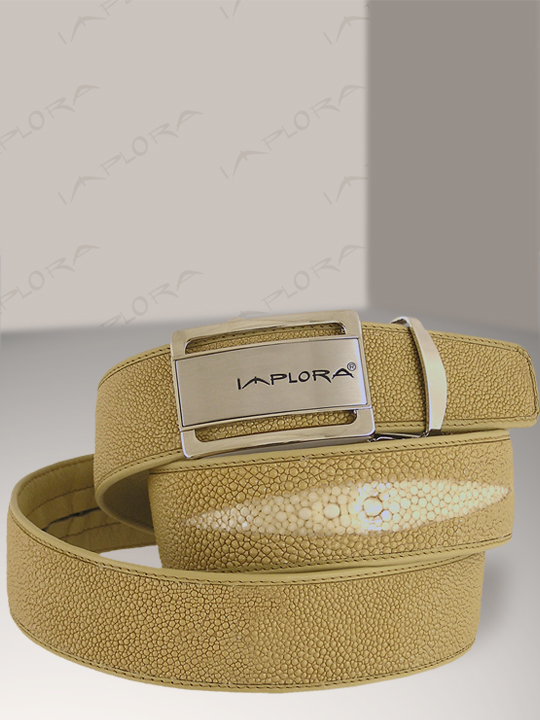 Implora Tan Stingray Leather Belt 1.5W
