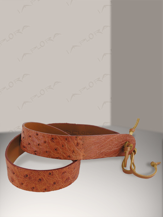 Implora Tan Ostrich Skin Hatband 1W