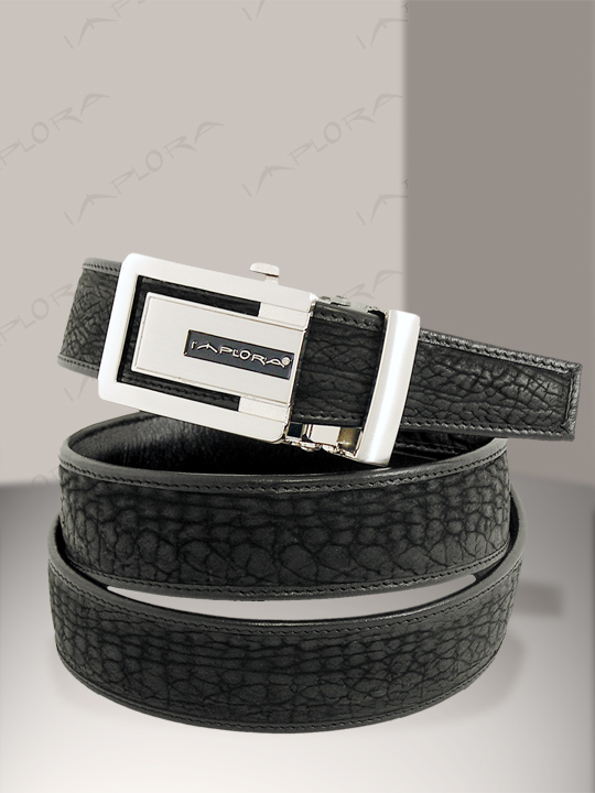Implora Black Shark Skin Belt