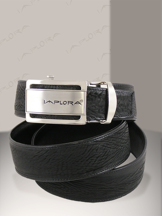Shark Leathers Implora Black Shark Skin Belt 1.5W