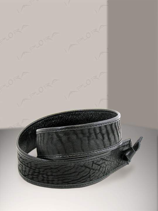 Shark Leathers Implora Black Shark Skin Hatband 1inW