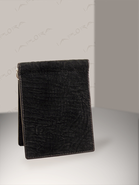 Shark Leathers Implora Black Shark Money Clip Wallet