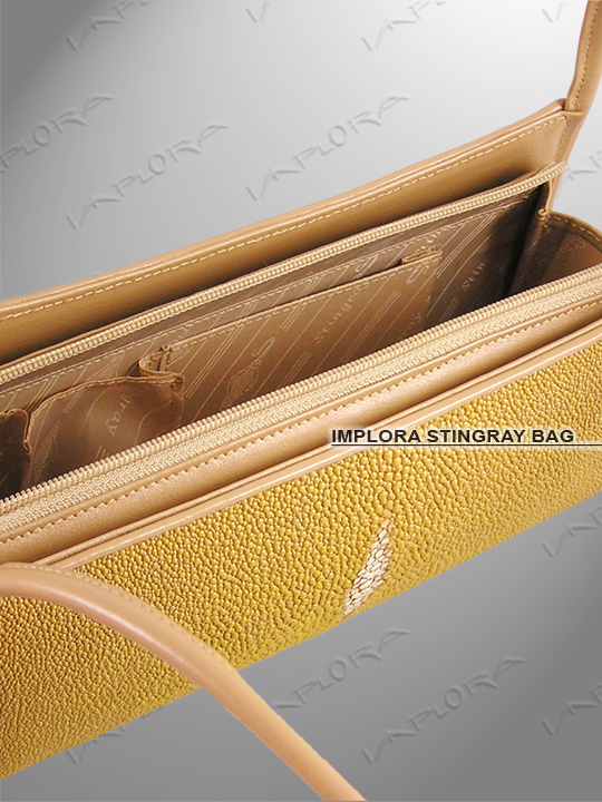 Implora Tan Stingray Evening Bag