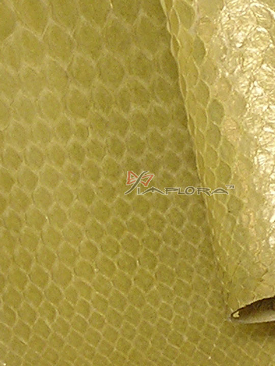 Solid Yellow Metallic Python Snakeskin Belly