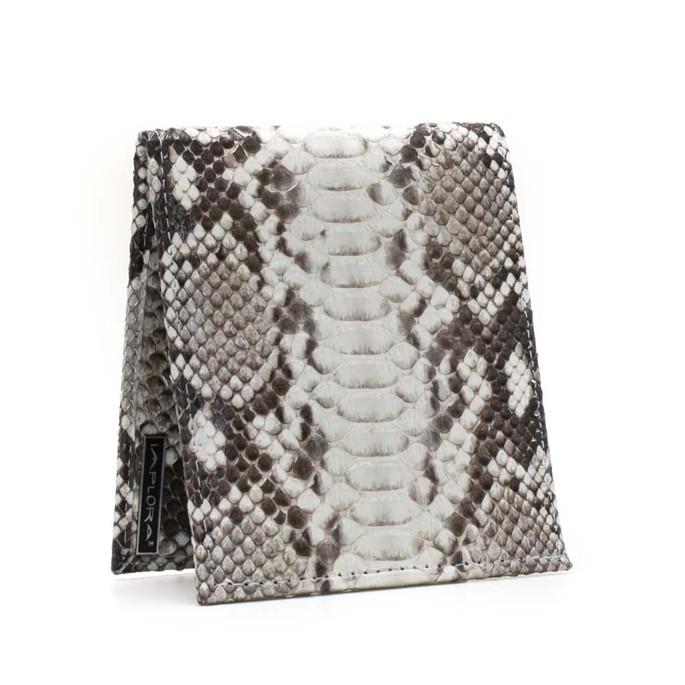 Leather Implora Natural Python Wallet w/ID Belly