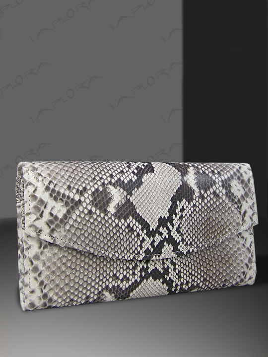 Leather Implora Natural Python Skin Lady Purse