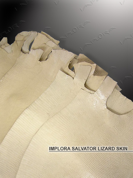 Implora Off-White Monitor Lizard Skin