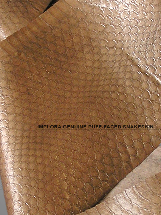 Implora Solid Brown Puff-Faced Snakeskin