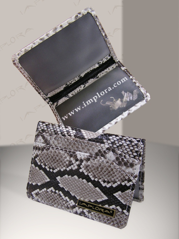Snakeskins Implora Natural Python Card Wallet w/ID