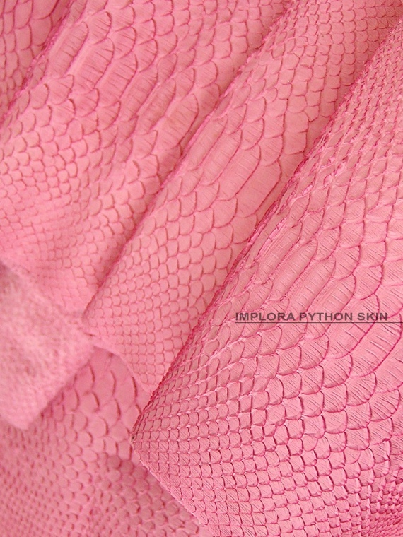 Implora Solid Pink Python Snakeskin Belly