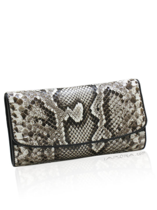 Leather Implora Natural Burmese Python Lady Purse