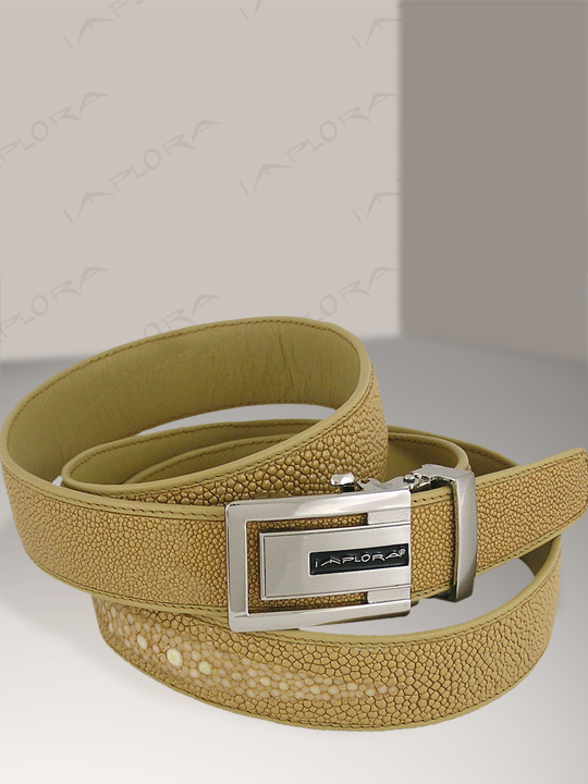 Free Shipping on Implora Tan Stingray Leather Belt