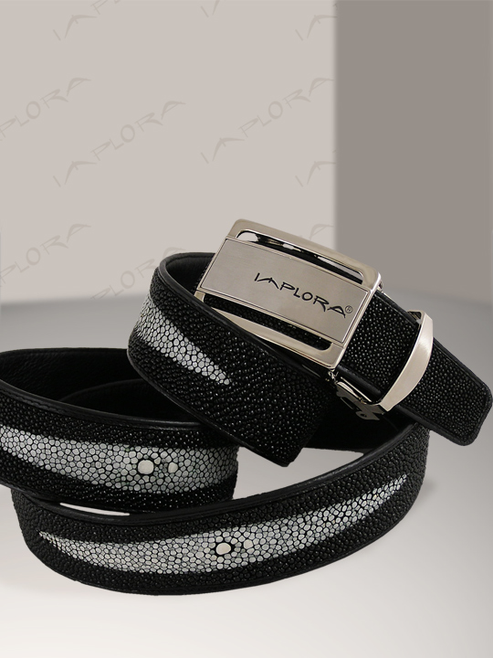 Free Shipping on Implora 3 Diamond Shapes Black Stingray Belt 1.5W