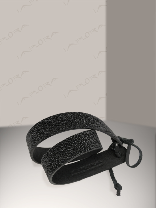 Free Shipping on Implora Black Stingray Skin Hatband 1W