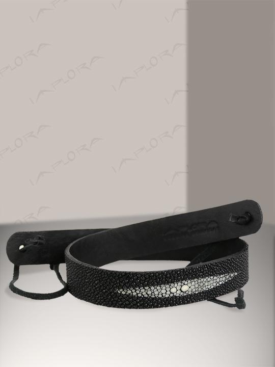 Free Shipping on Implora Black Stingray Skin Hatband 1W Deluxe