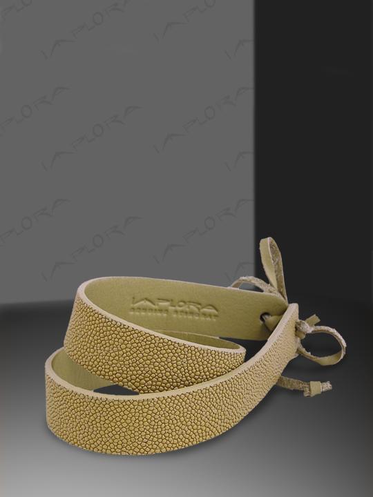 Free Shipping on Implora Tan Stingray Skin Hatband 1W