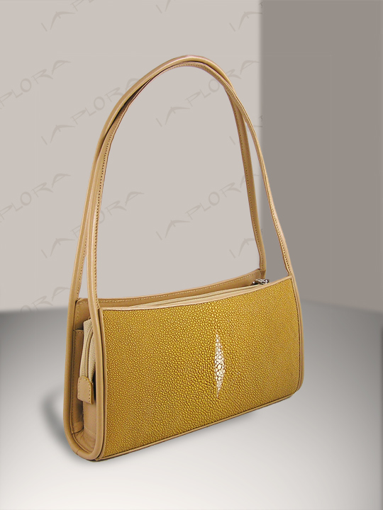 Free Shipping on Implora Tan Stingray Evening Bag