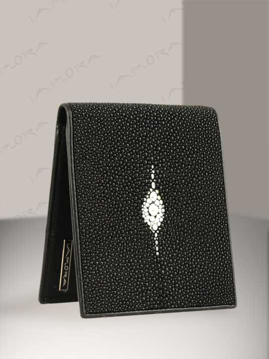 Free Shipping on Implora Black Stingray Wallet w/ID Star Design