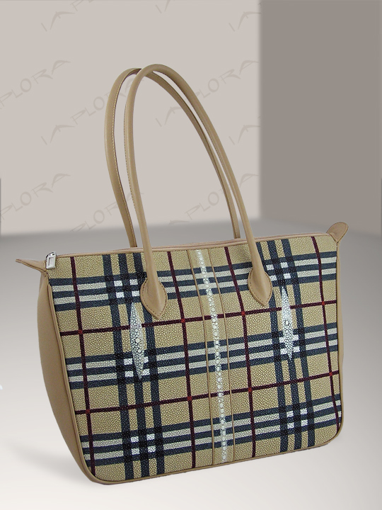 Free Shipping on Stingray Long Pearl Tan Large Bag